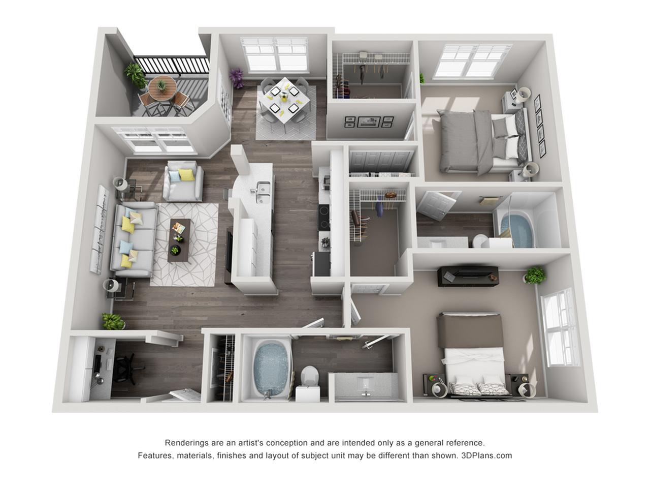 Two bedroom apartment in Perimeter Atlanta