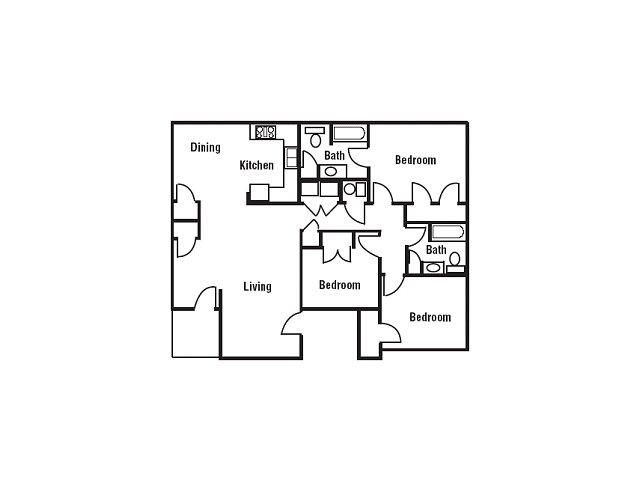 3 Bed 2 Bath Apartment In Southaven Ms Oak Hollow Apartments