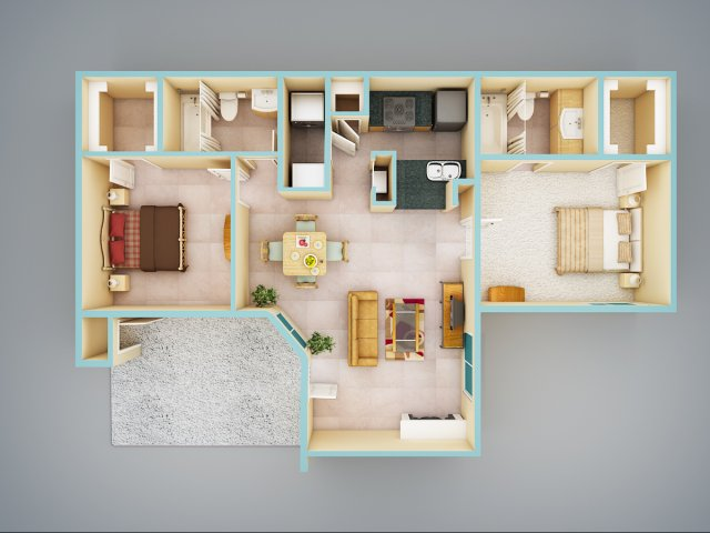 allfloor plans2 bedroom2 bath - Apartment Floor Plans 2 Bedroom