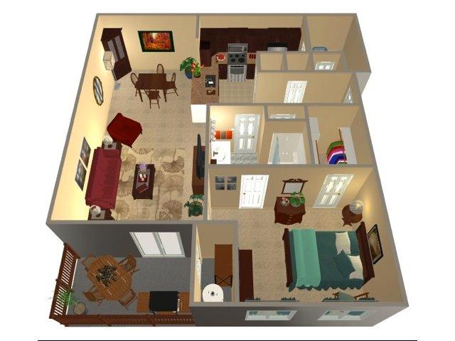 One Bedroom-852 sqft