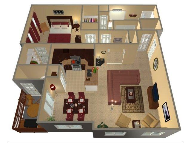 One Bedroom-965 sqft