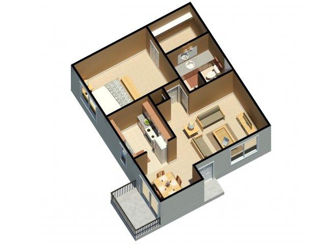 One Bedroom Apartments Lubbock Part - 41: For The One Bedroom One Bathroom Floor Plan.