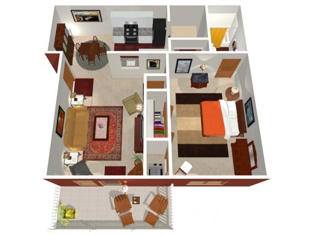 Forest Ridge Ohio 1-bed floorplan