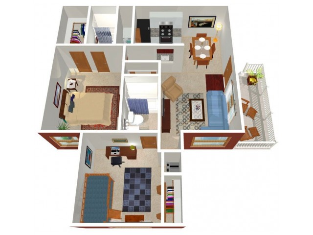 Forest Ridge Ohio 2-bed floorplan