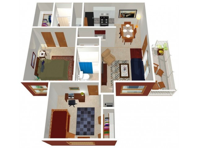 Park Hill at Fairlawn 2-bed floor plan