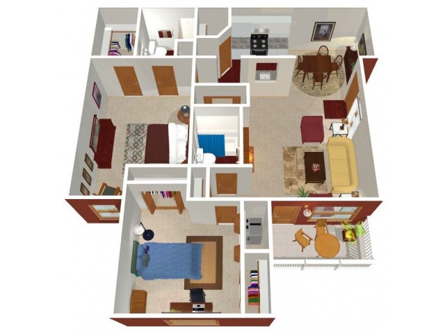 Park Hill at Fairlawn 2-bed floor plans