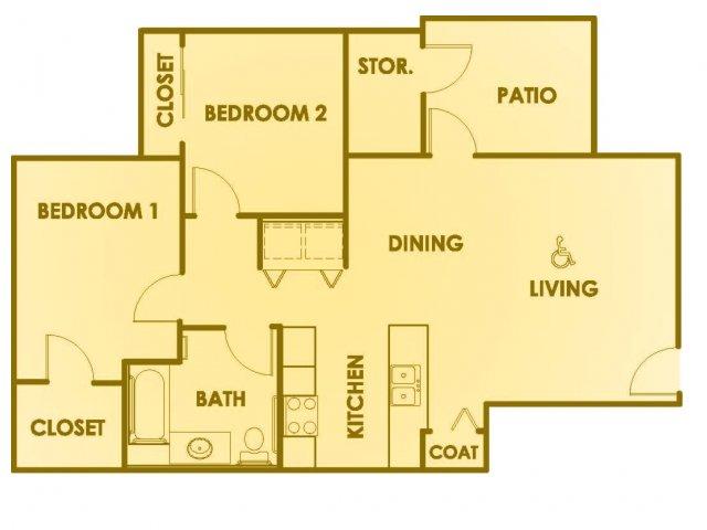 2 bed 1 bath apartment in idaho falls id summerhill for Ada bedroom