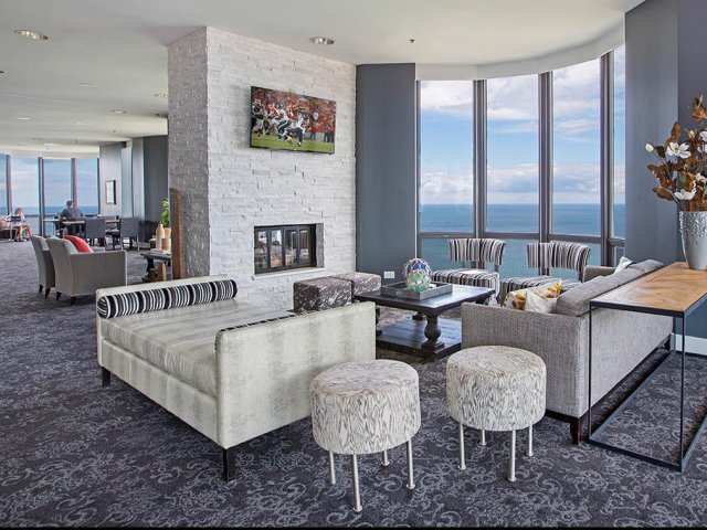 Image of Multiple entertainment areas and flat-screen televisions for Eugenie Terrace