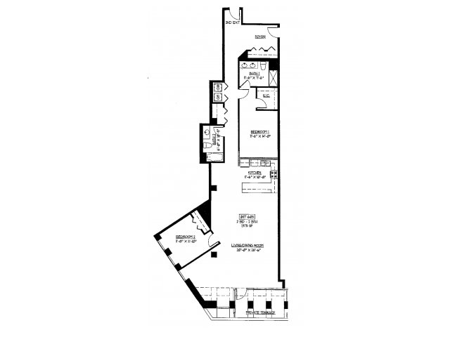 2 bed 2 bath apartment in chicago il axis apartments - Three bedroom apartments chicago ...
