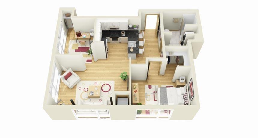 floor plan Redwood Plus Den