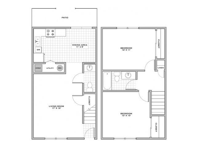 2 bed 1 5 bath apartment in wilmington nc canterbury woods - 2 bedroom apartments wilmington nc ...
