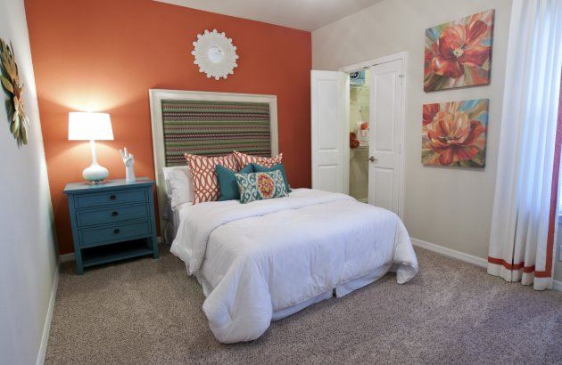 Large inviting bedrooms with walk-in closets.