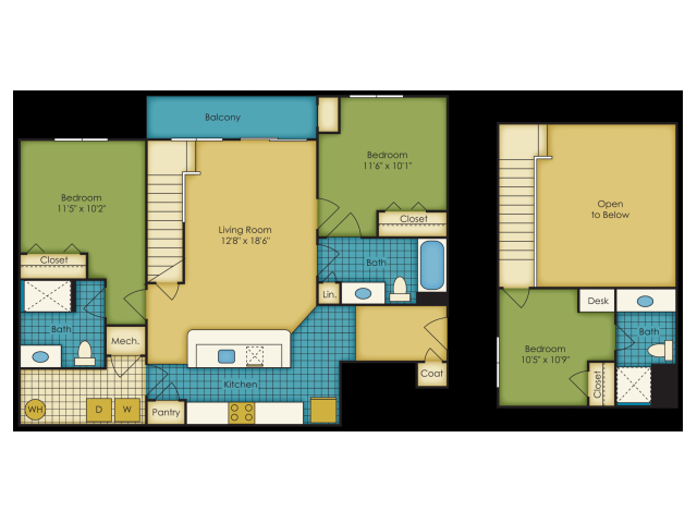 3 bedroom apartments near Virginia Tech