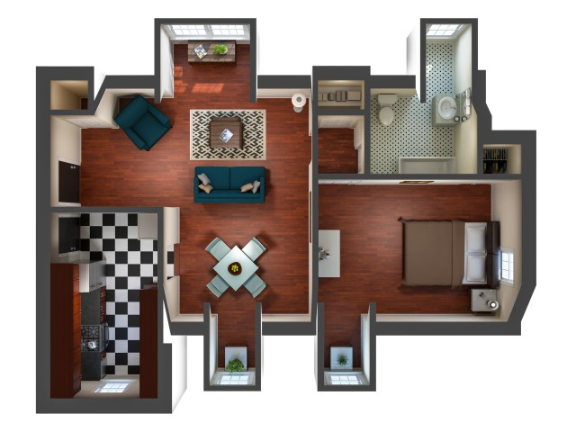 One Bedroom Apartment in Downtown Richmond, VA
