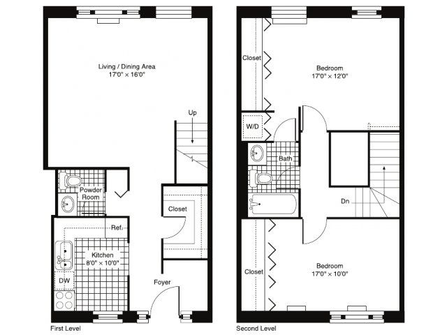 2 Bedroom 1 5 Bath Townhouse. Studio  1   2 Bedroom Apartments in Chicago  IL   River North Park