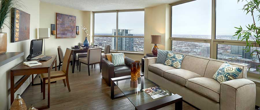Spacious Living Room | Apartments in Chicago, IL | Presidential Towers
