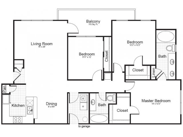 3 Bedroom Floor Plan | Addison Park