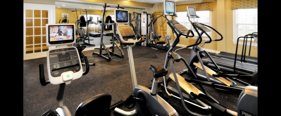 Fitness center for our apartments for rent in Cranston RI at Independence Place