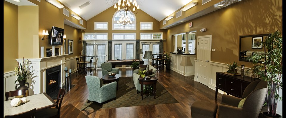 Clubhouse at the Ledges apartments in Johnston RI