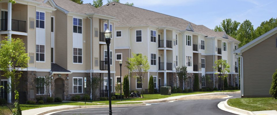 Exterior views of apartments in Aberdeen, MD