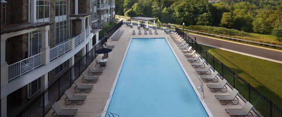 Resort-style pool of our New Town apartments