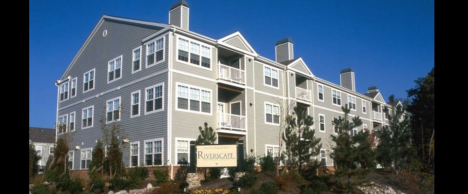 Exterior view of our Riverscape Apartments in Odenton MD