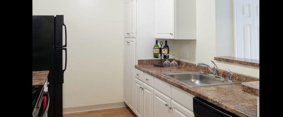 Spacious kitchen at Kensington Apartments at Chelmsford MA