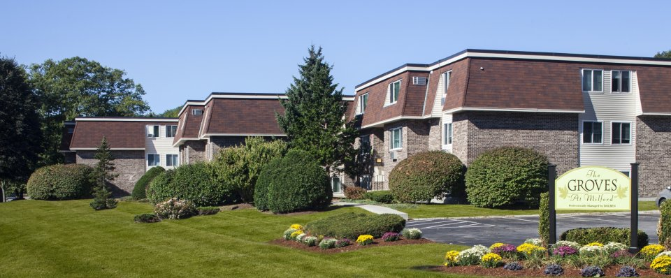 Apartments in Milford MA | Outside view of The Groves at Milford