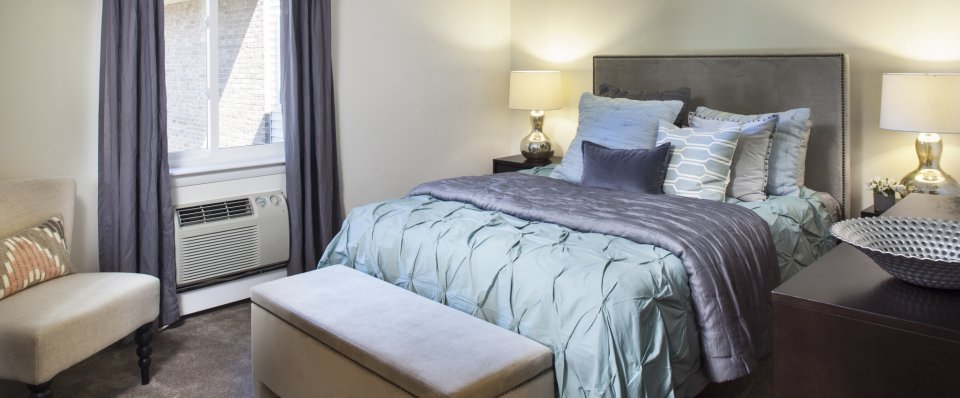 Master Bedroom at the Groves at Milford apartments | Milford MA