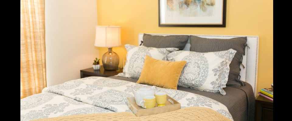 Bedroom at the Groves at Piney Orchard apartments | Fort Meade Apartments