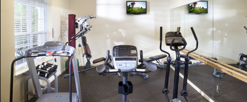 The fitness center for our apartments in East Greenwich RI at Greenwich Place