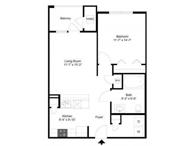 1 Bedroom Floor Plan | Alexander at Patroon Creek