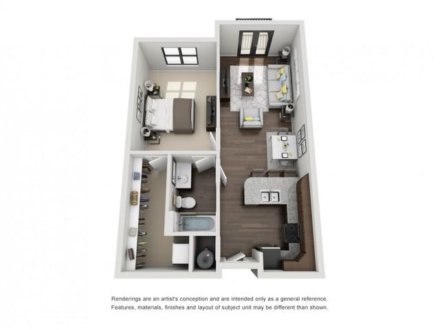 1 Bedroom Apartment - Piedmont