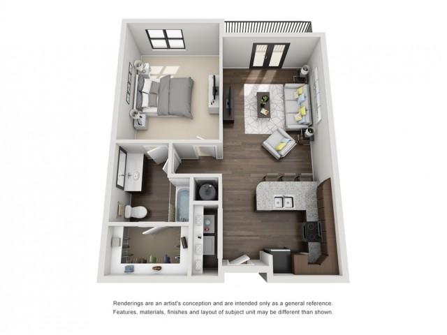 1 Bedroom Apartment - Hanes