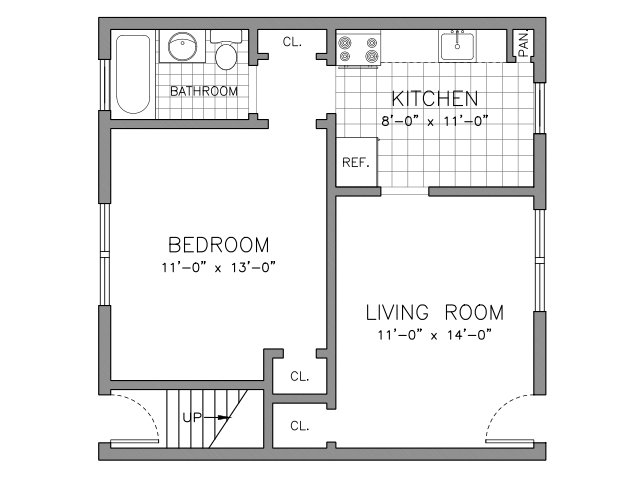 1 Bedroom - 1st Floor