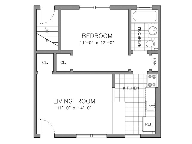 Renovated 1 Bedroom