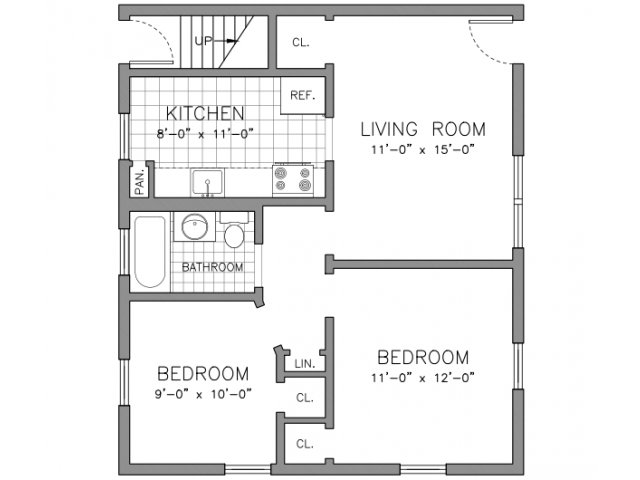 Two Bedroom - 1st Floor