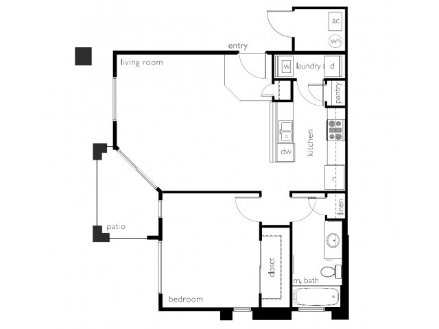 Floor Plan | Town Center Apartments
