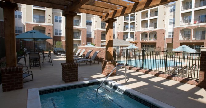 Outdoor pool at fairfax apartments