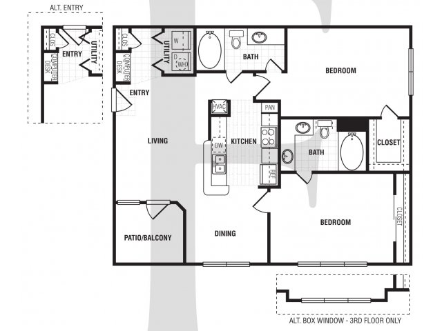 2 Bedroom Floor Plan | Villa du Lac2