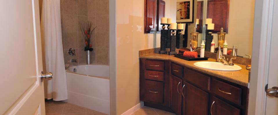 Kingwood apartments master bathroom