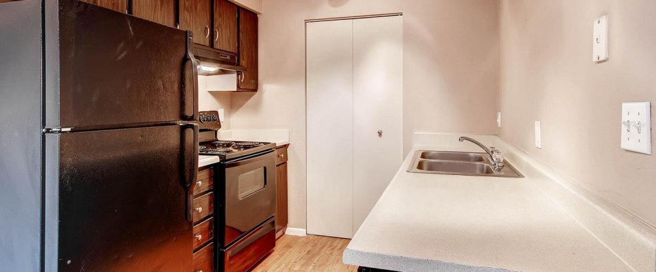 Kitchen of apartments for rent in Arvada