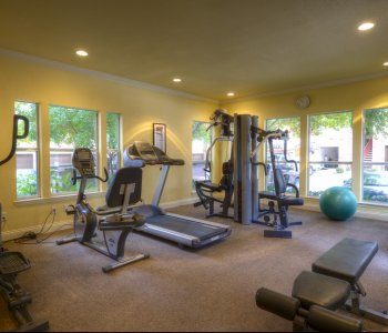 State-of-the-art fitness center of our North Austin apartments