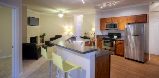 Apartments for rent in Austin with island kitchen and hardwood floors