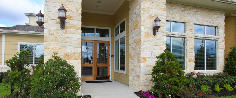 Entrance at The Reserve at Jones Road | Apartments in Houston TX