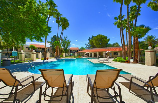 Relaxing pool at our Apartments for rent in Tucson AZ