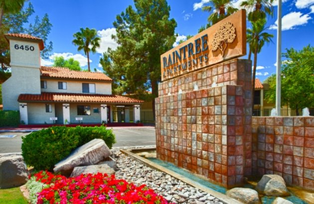 Raintree Apartments entrance | Apartments in Tucson