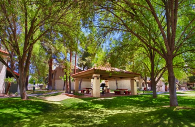 Beautiful grounds around our Tucson AZ Apartments