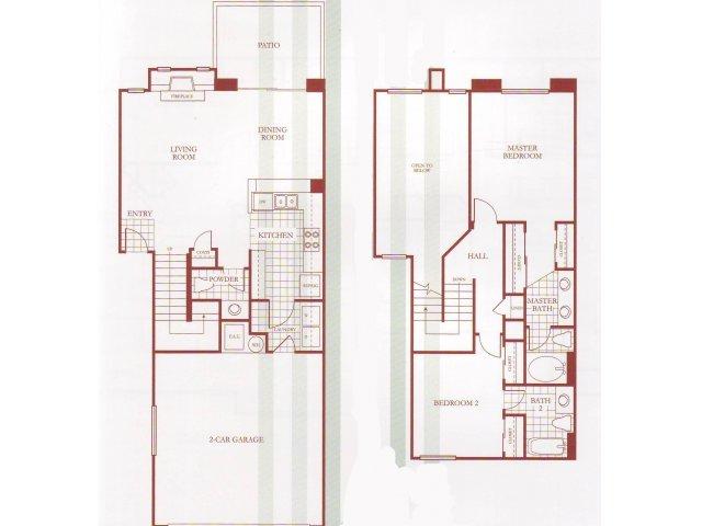 2 Bed 2 5 Bath Apartment In Las Vegas Nv Carlisle At