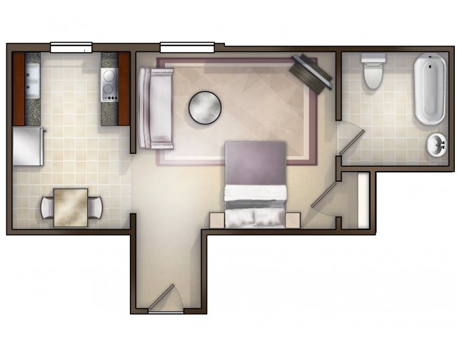 An Appointment to View Units is Recommended. Try Our Virtual Move In Tool! Click on the Link Below. (Not to Scale))